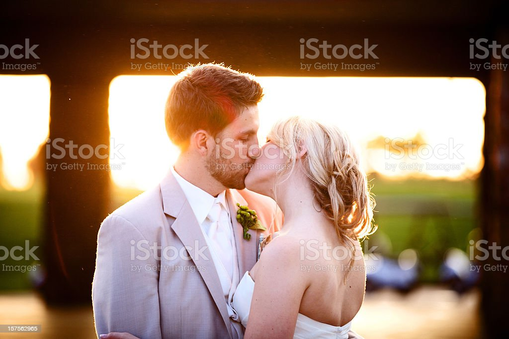 summer wedding young adults royalty-free stock photo