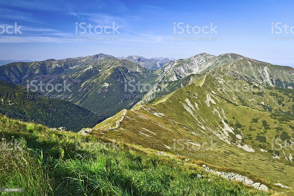 Summer Western Tatra Mountains landscape royalty-free stock photo