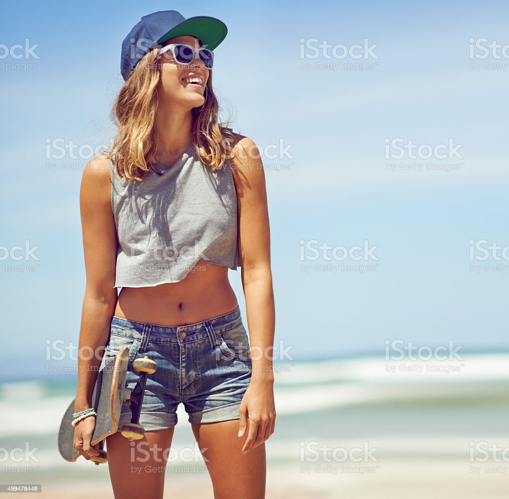 Summer, what an awesome season stock photo