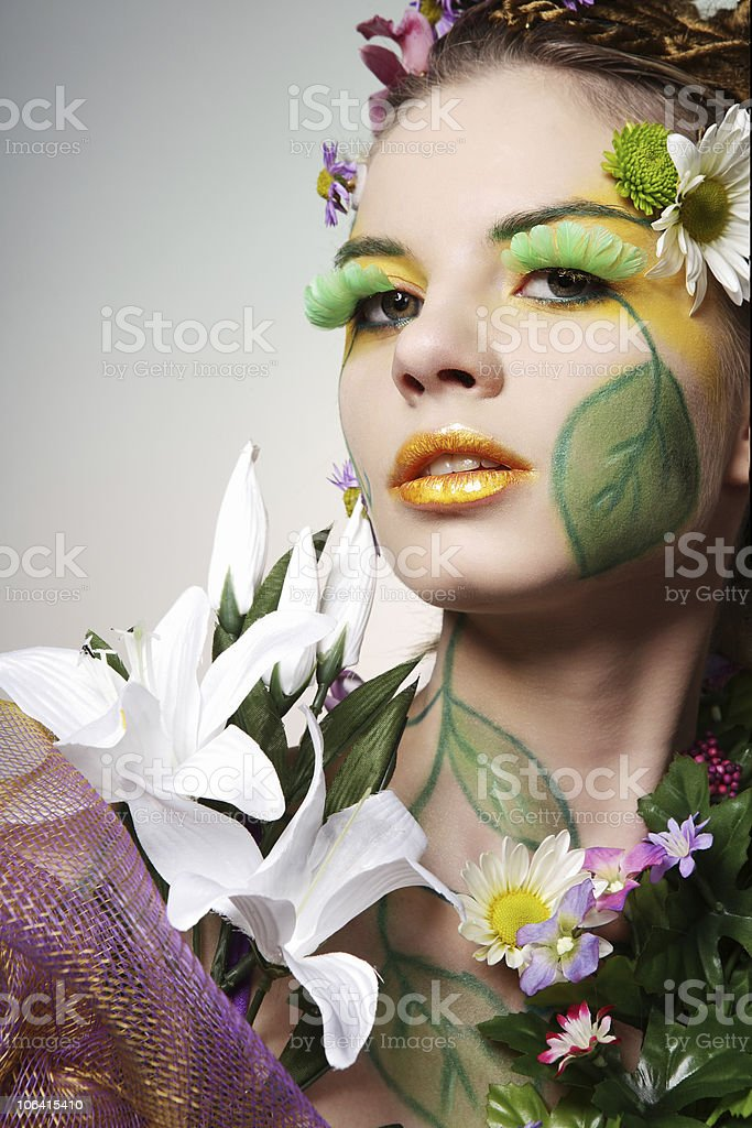 Summer woman. royalty-free stock photo