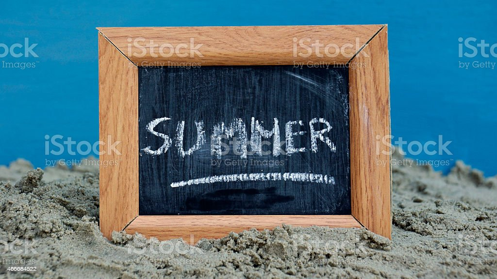 Summer written stock photo