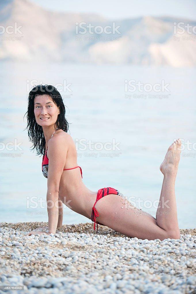 Summer Yoga stock photo
