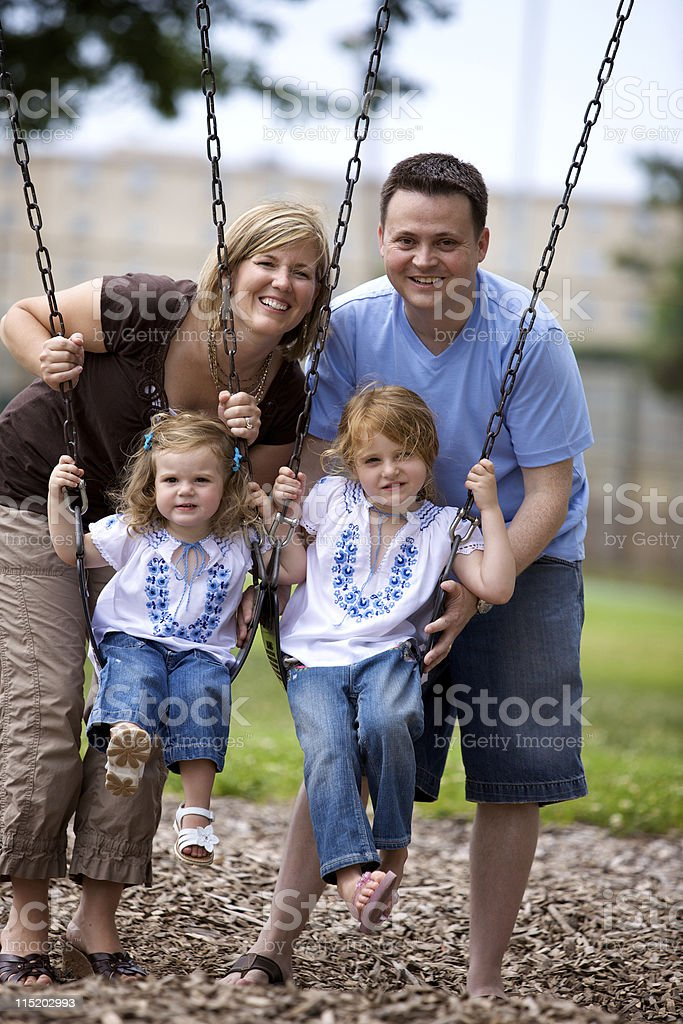 summer young family portraits royalty-free stock photo