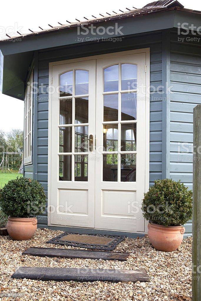 Summerhouse stock photo