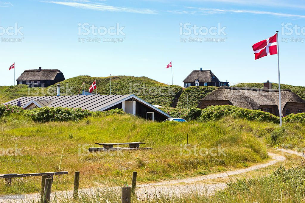 Summerhouses northern Jutland, Denmark stock photo