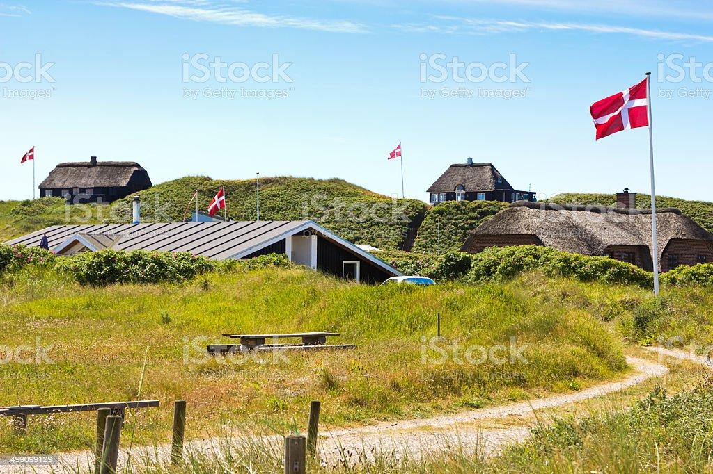 Summerhouses northern Jutland, Denmark stock photo