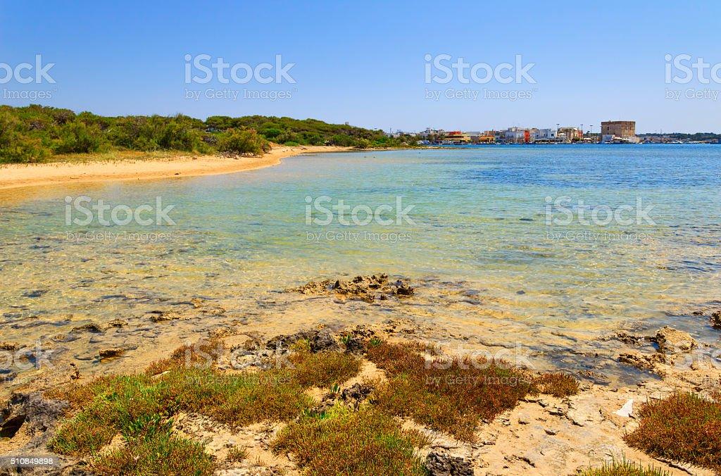 SUMMER.Ionian coast of Salento:Porto Cesareo (Lecce).- ITALY (Apulia) stock photo