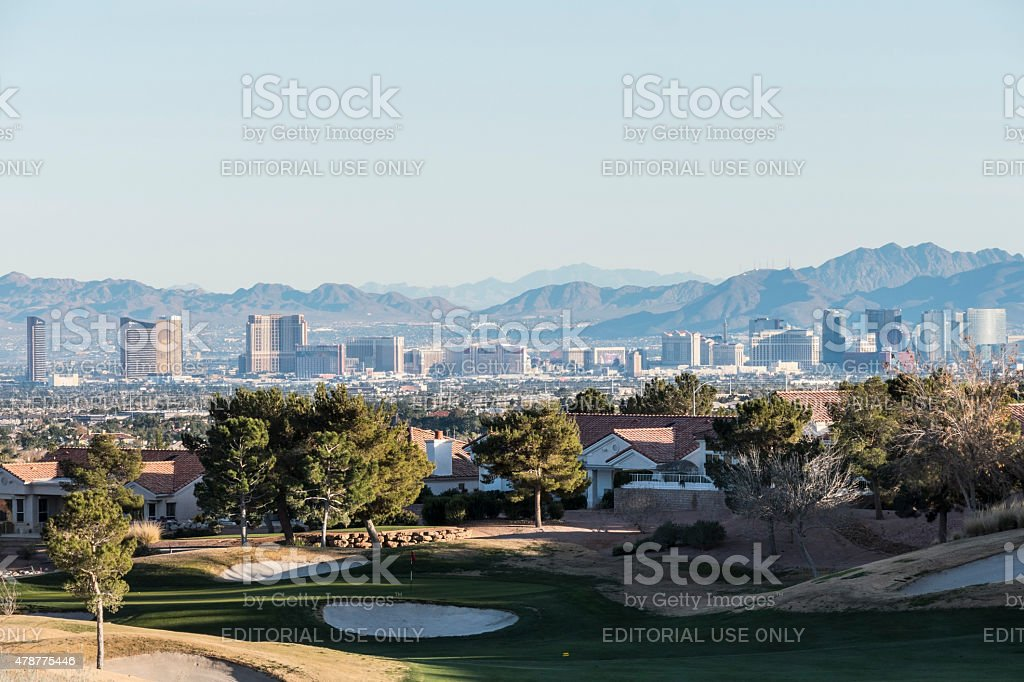 Summerlin neighborhood of Las Vegas Nevada stock photo