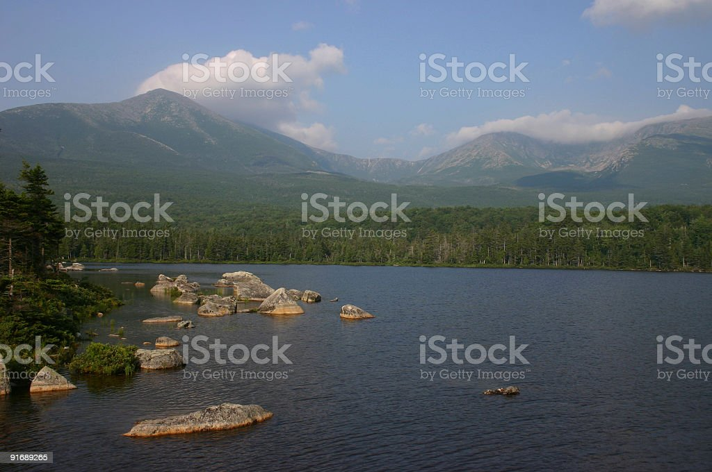 Summer's Day at Baxter State Park royalty-free stock photo