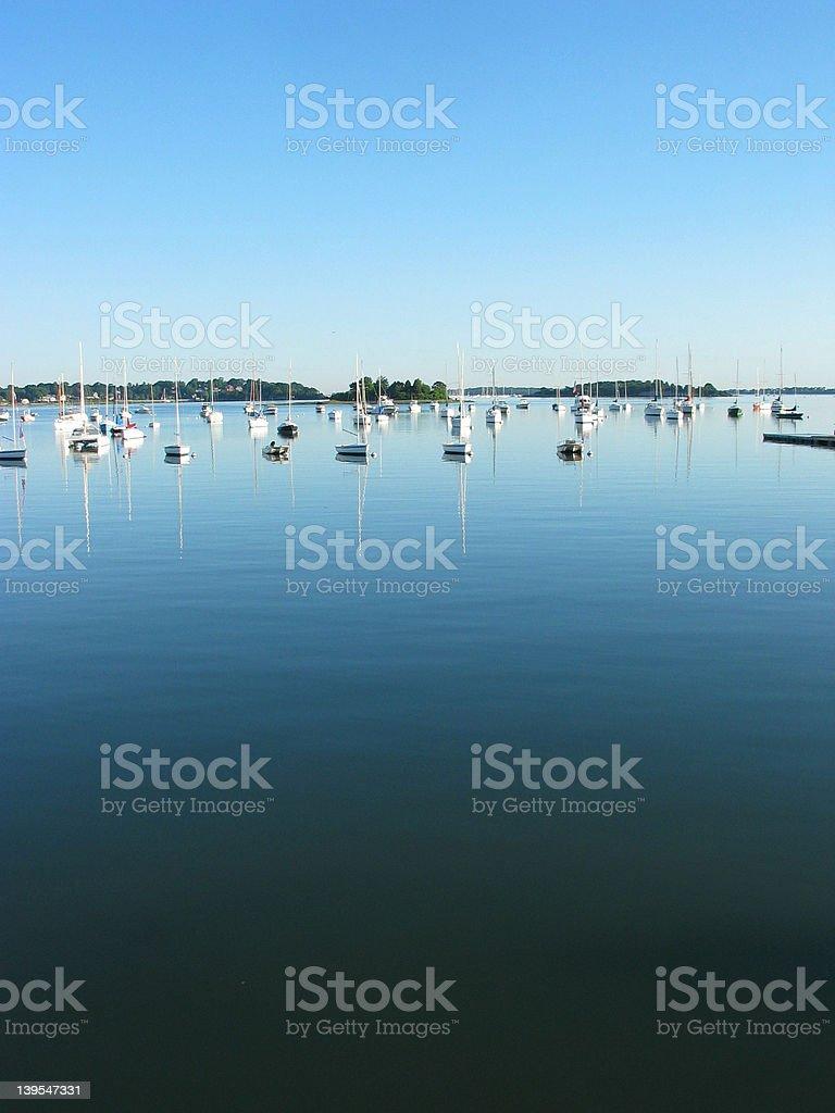 Summer's day, Hingham Harbor royalty-free stock photo