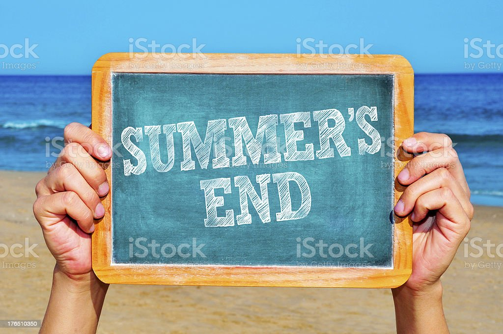 summers end stock photo