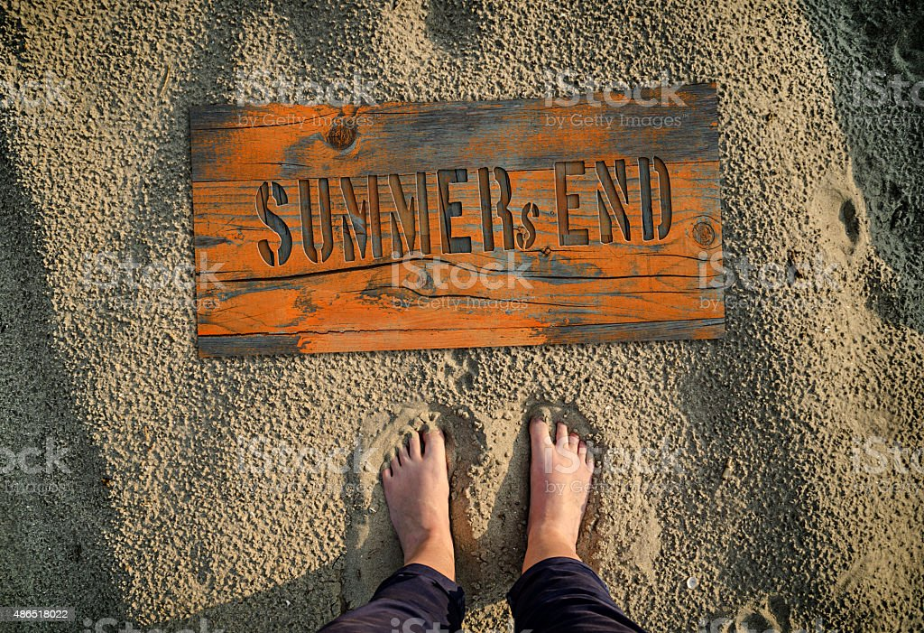 Summer`s end text. stock photo
