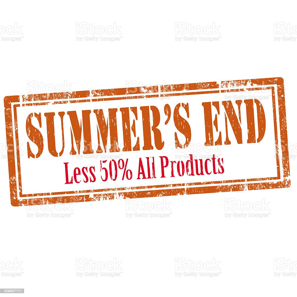 Summer's End-stamp stock photo