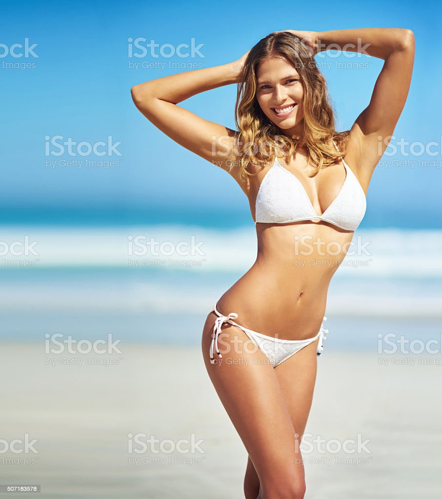 Summer's here and I'm feeling fantastic stock photo