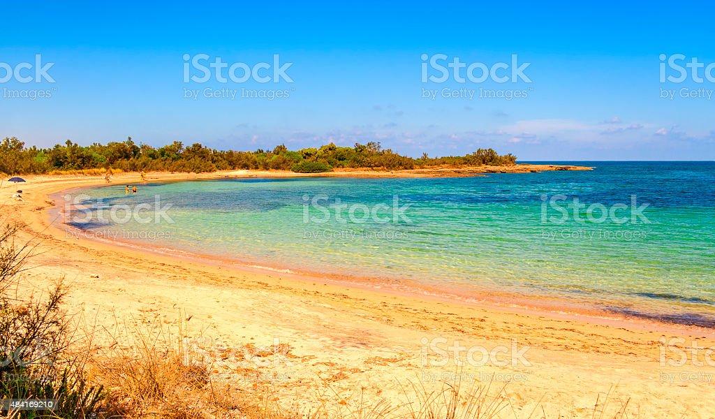SUMMER.Salento coast: a nature reserve of Torre Guaceto.BRINDISI (Apulia)-ITALY- stock photo
