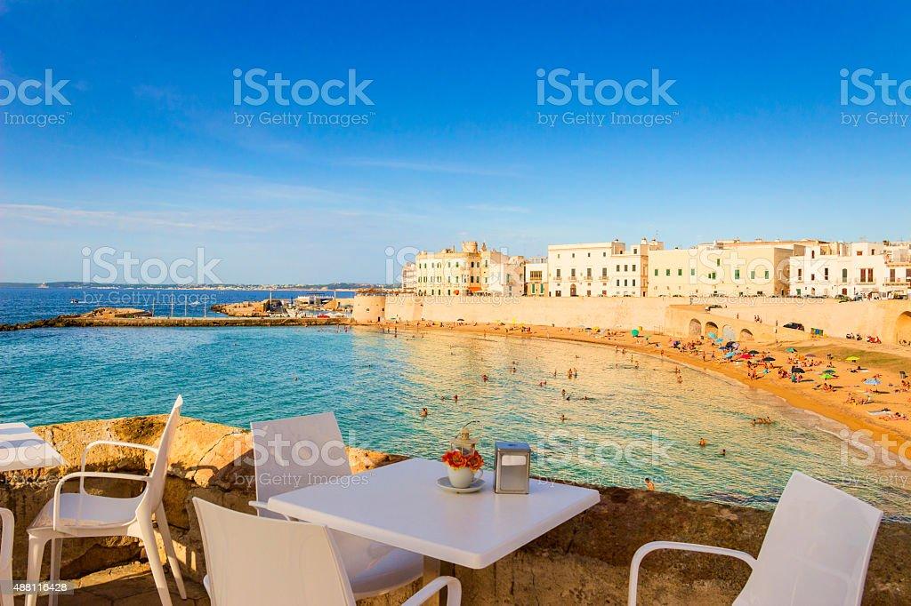 SUMMER.Salento coast: Gallipoli beach.Apulia (ITALY) stock photo