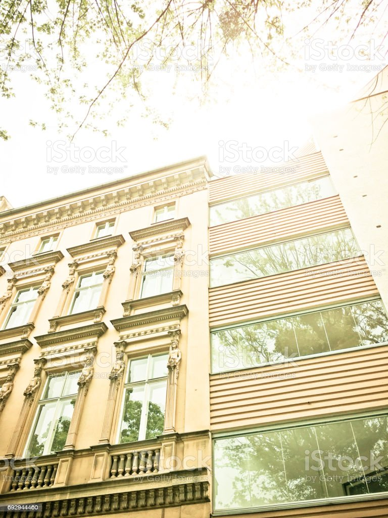 Summertime, Apartment Houses in Berlin stock photo