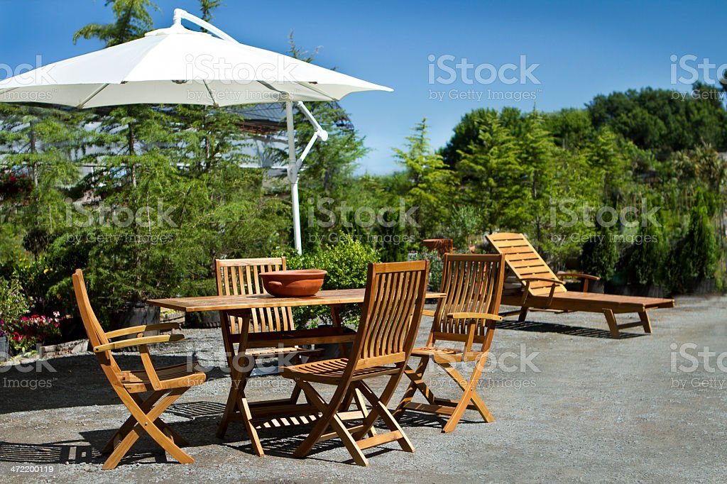 Summertime at garden stock photo