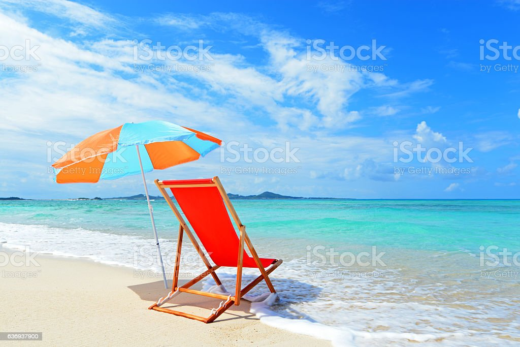 Summertime at the beach stock photo
