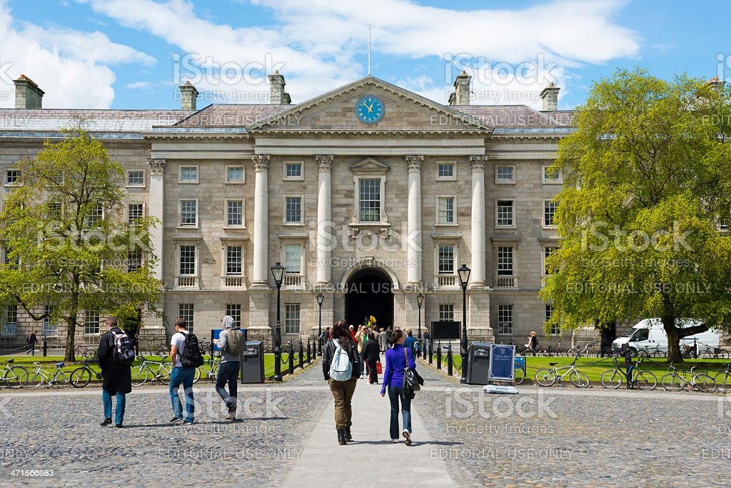 Summertime at Trinity College Dublin stock photo