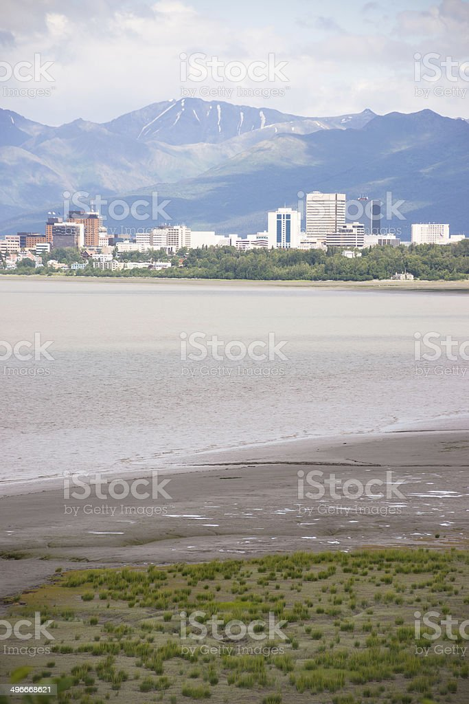 Summertime Bootleggers Cove Anchorage Alaska United States Northwest Territory stock photo
