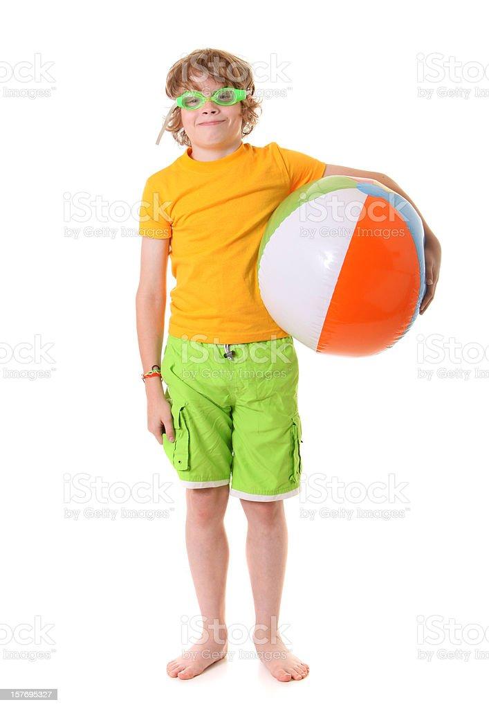 summertime boy stock photo