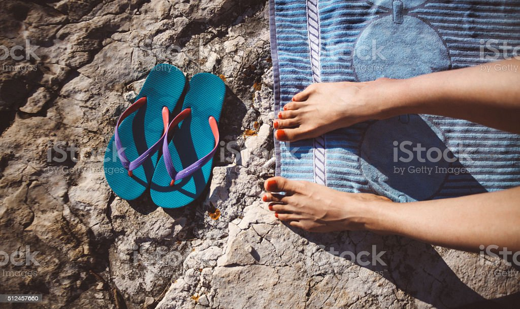 Summertime by the beach stock photo