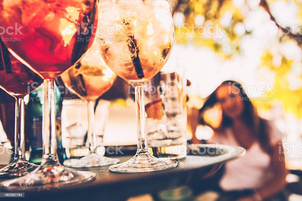 Summertime drinks stock photo