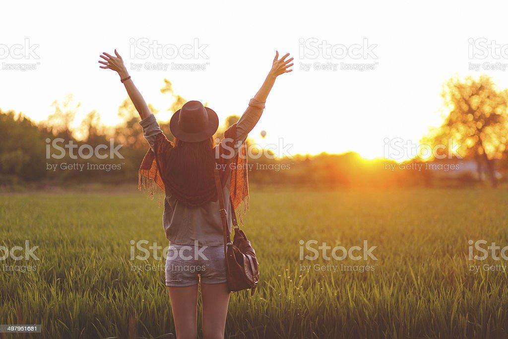 summertime freedom stock photo