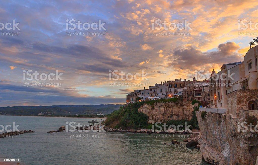 Summertime. Gargano coast: bay of Vieste.-(Apulia) ITALY. stock photo