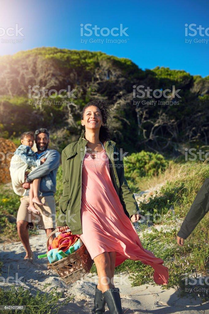 Summertime gladness stock photo