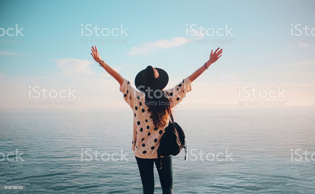 Summertime happiness stock photo