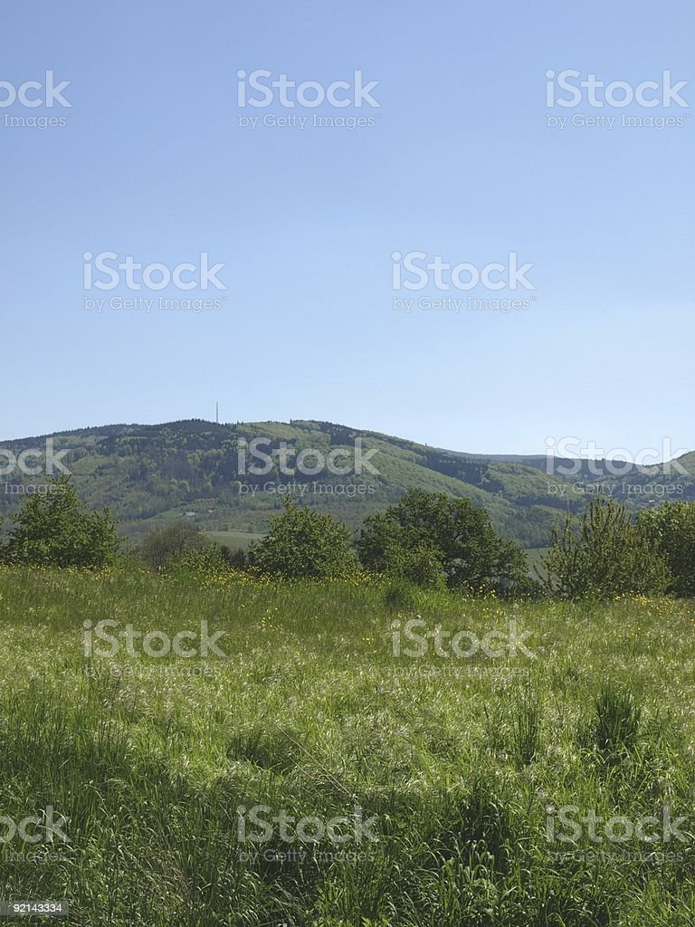 summertime in Baden with Black forest and Hornisgrinde royalty-free stock photo