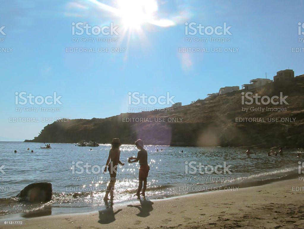 summertime in Greece stock photo