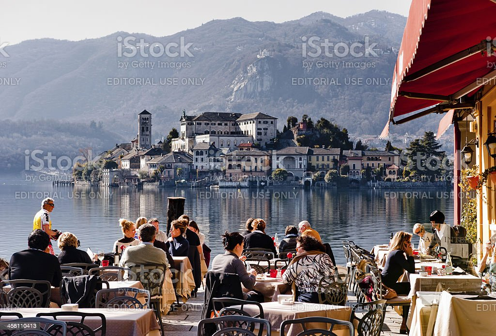Summertime in Italy stock photo