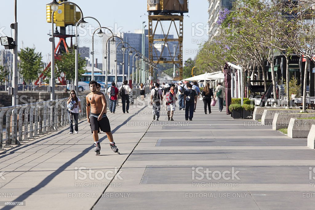 Summertime in Puerto Madero, Buenos Aires, Argentina royalty-free stock photo