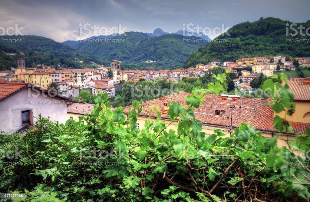 Summertime in Tuscany, Italy stock photo