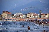 Summertime in Viareggio, Tuscany, Italy