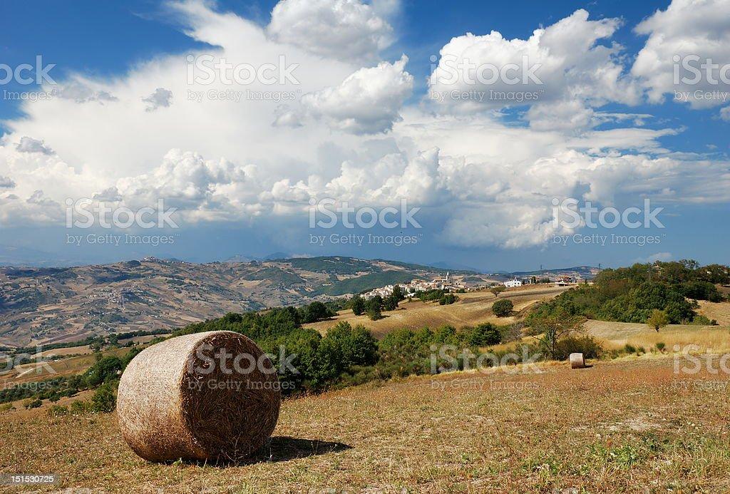 Summertime molise landscape royalty-free stock photo