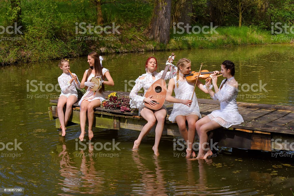Summertime Musicians one stock photo