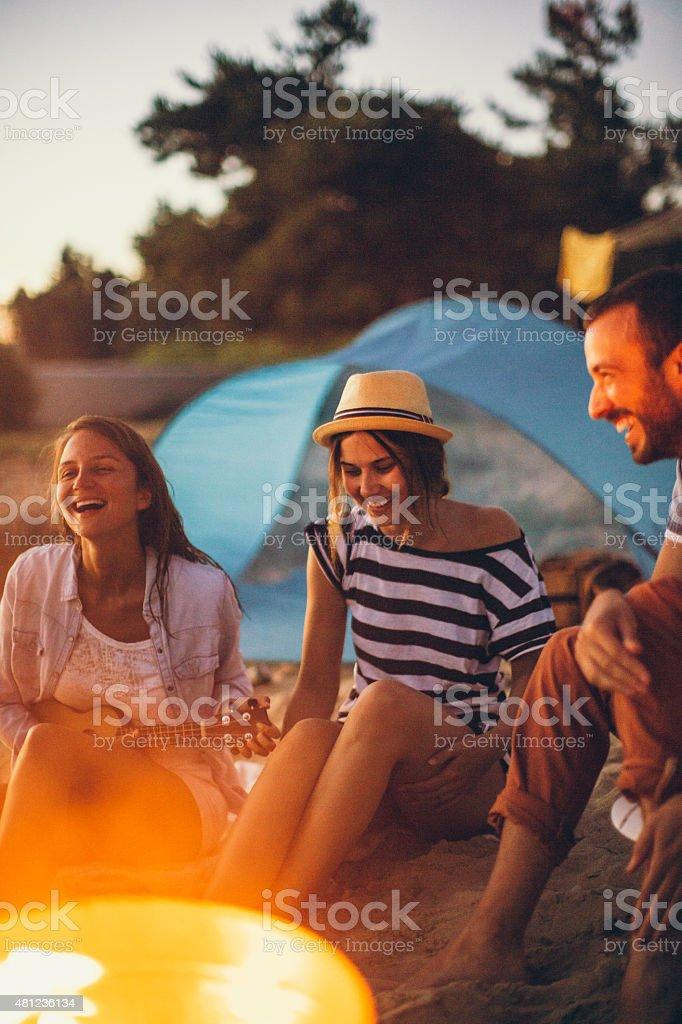Summertime parties stock photo