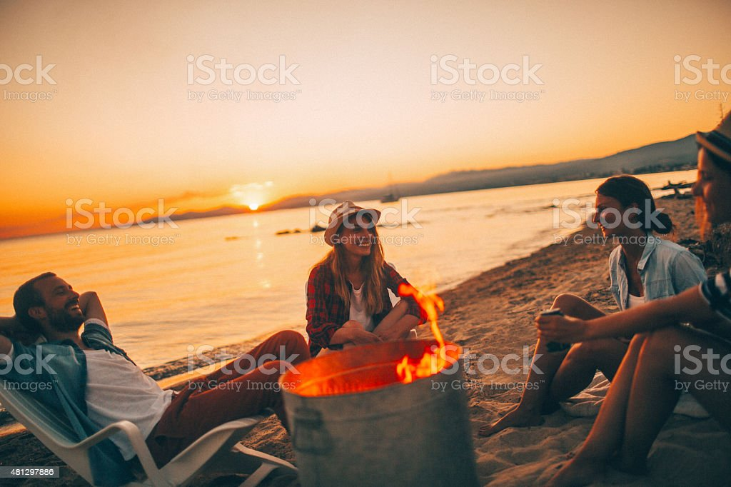 Summertime party stock photo