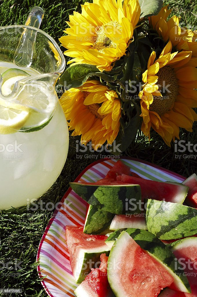 Summertime Refreshments royalty-free stock photo