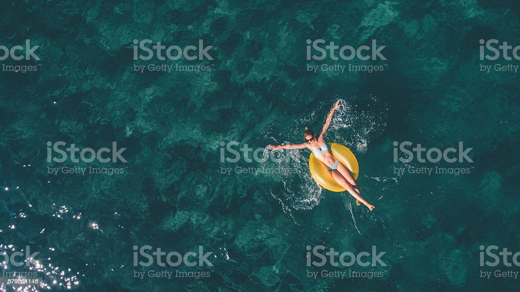 Summertime relaxation stock photo