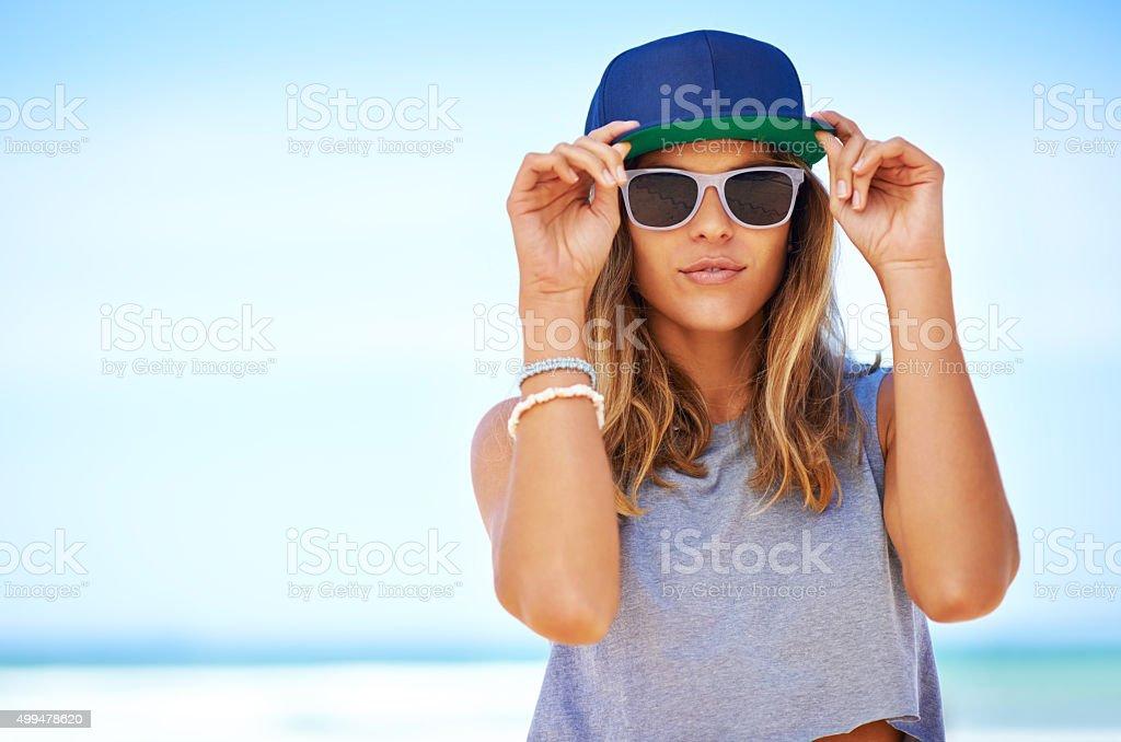 Summertime swag stock photo