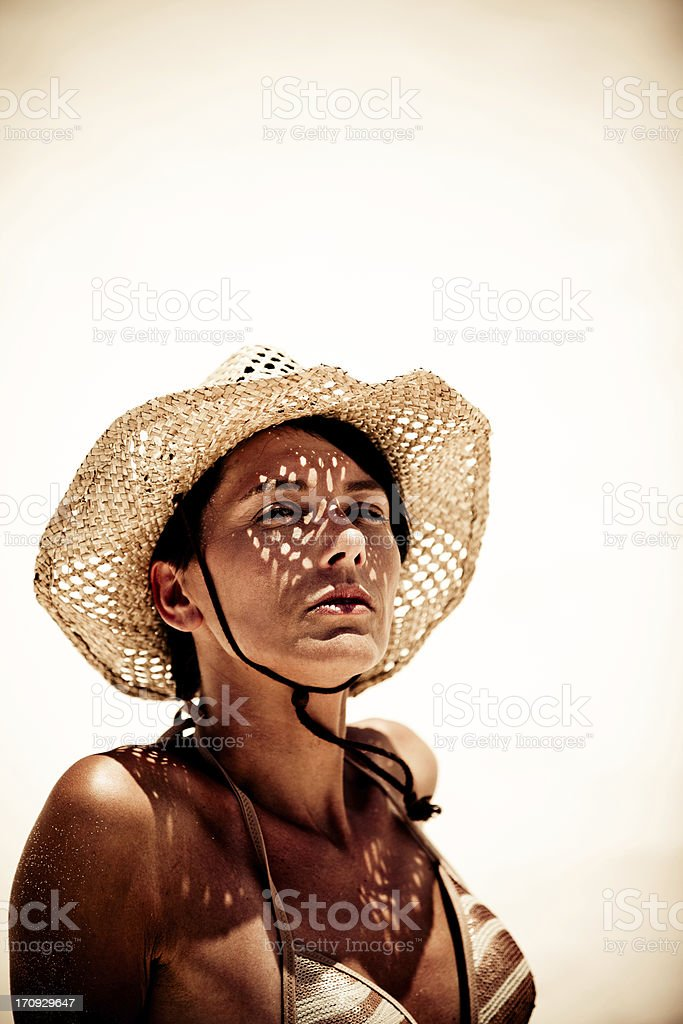 Summertime woman portrait stock photo