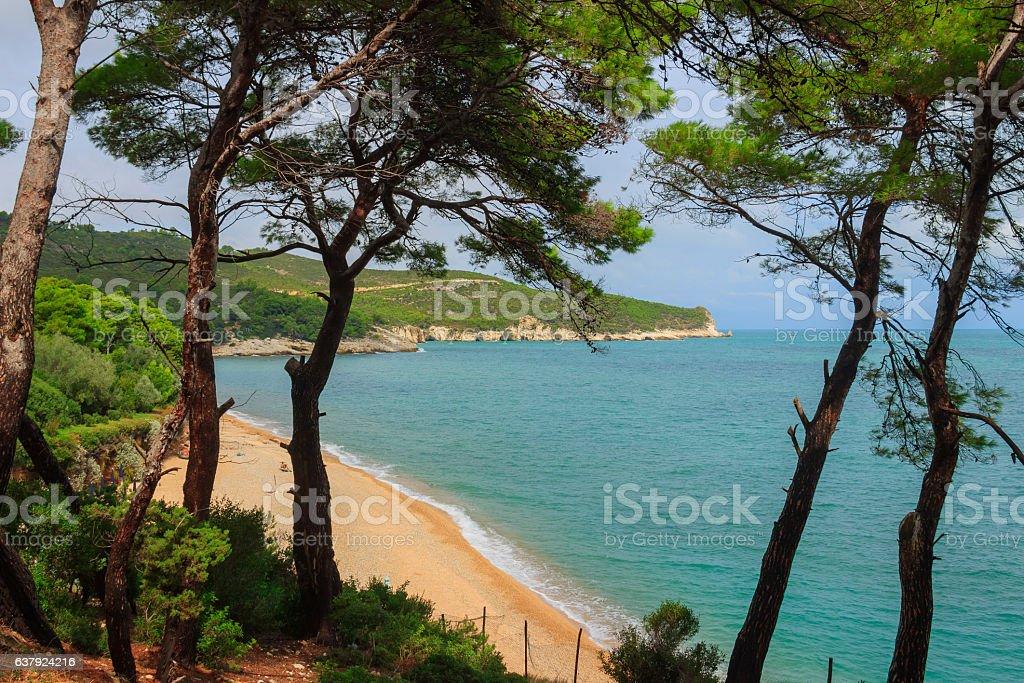 Summertime.Gargano coast: Baia di Campi beach,Vieste-(Apulia) ITALY- stock photo