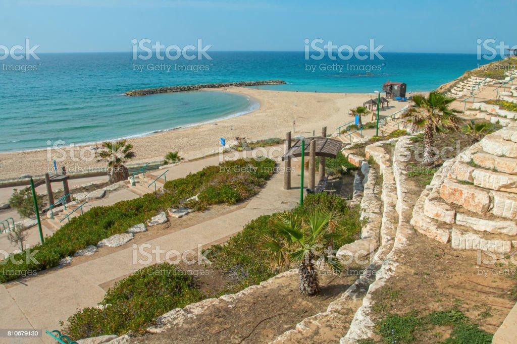 Summery Mediterranean Coast stock photo