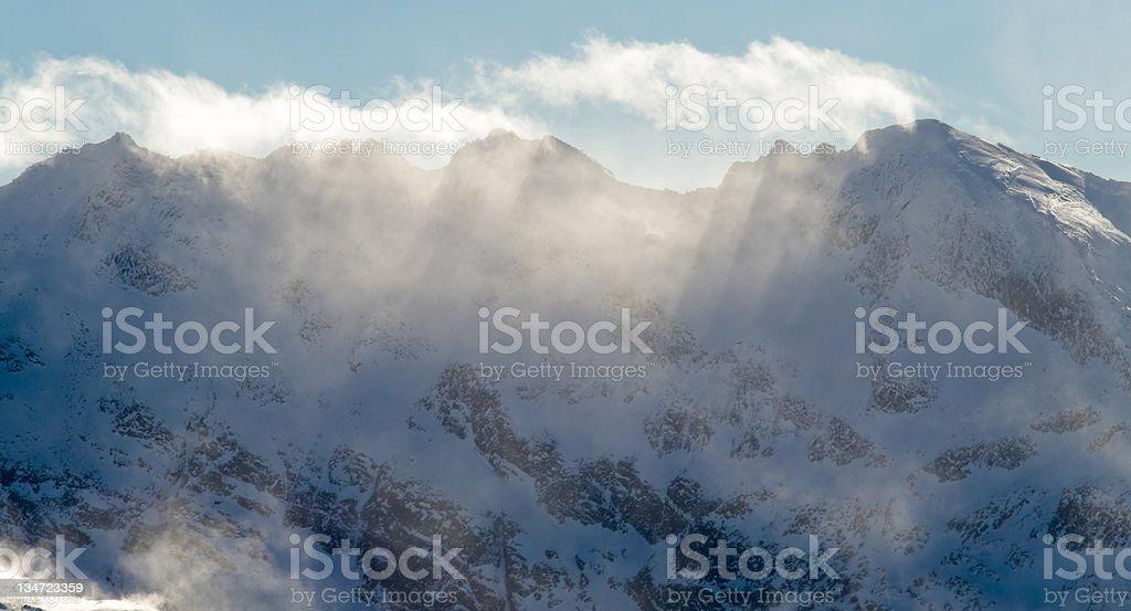 Summit at winter in mountain Austria royalty-free stock photo