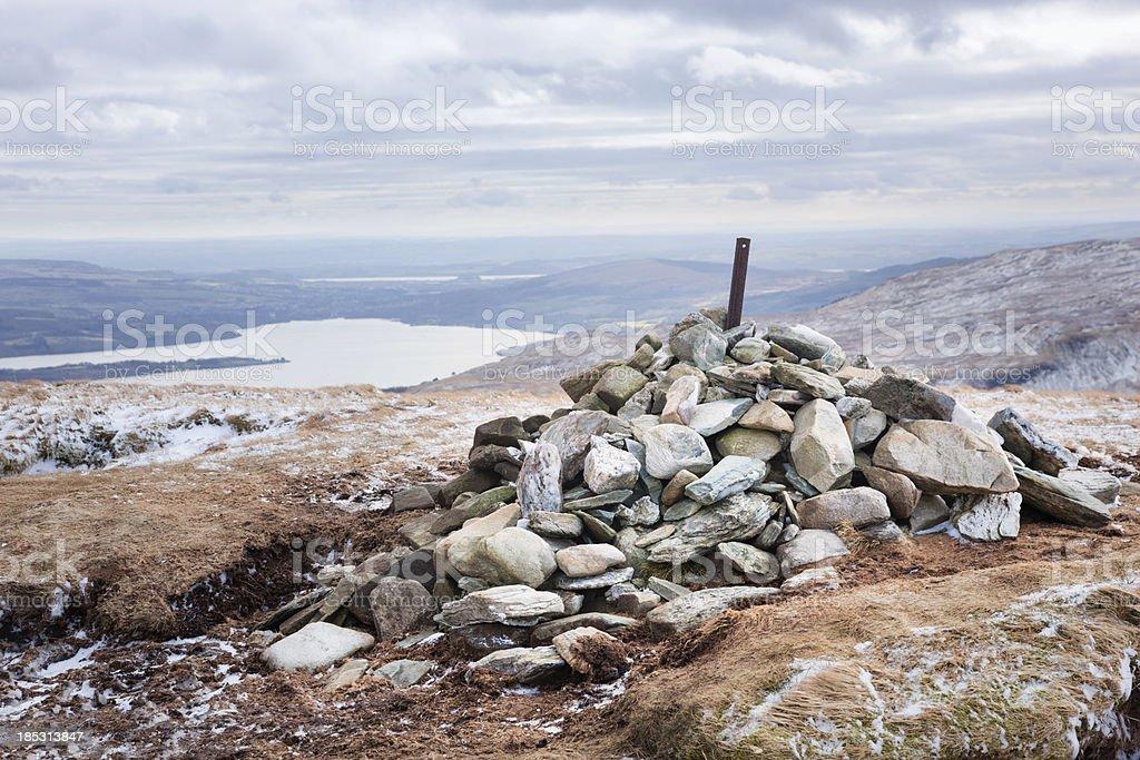 Summit Cairn on Beinn Dubh stock photo